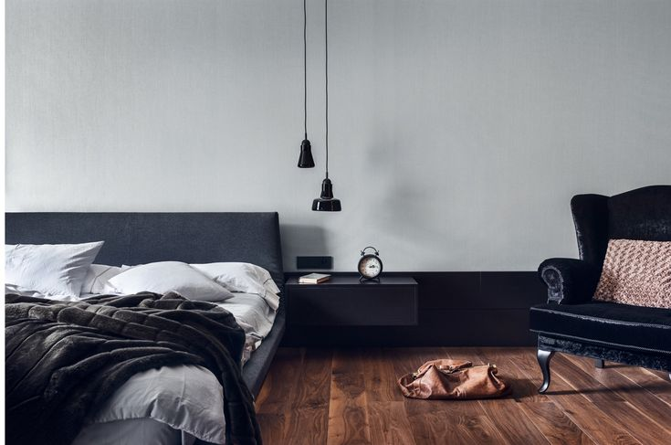 Bedroom designed by studio Potorska