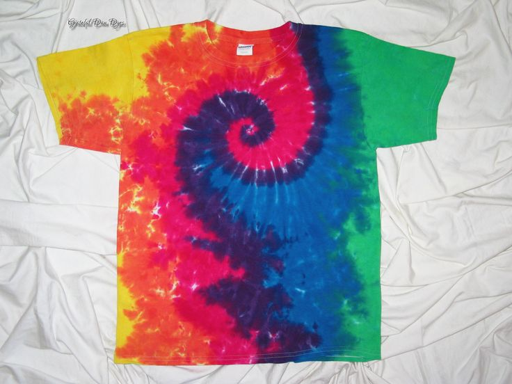20% Off Black Friday Sale tye dye,  youth tee, tie dye grateful dan dyes, spiral tie dye, funky dyes, kids tie dye - $16.00 USD
