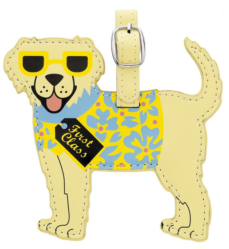 Golden Retriever Luggage Tag