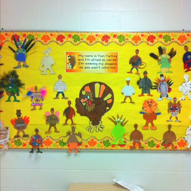 Disguise A Turkey Bulletin Board Teaching Schools