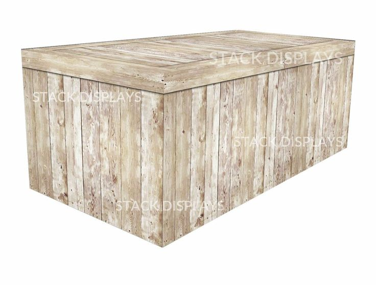 Ed Table Covers Light Pine Wood Crate