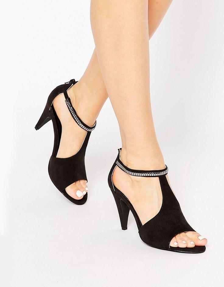 London+Rebel+T-Bar+Mid+Heeled+Sandals - Asos
