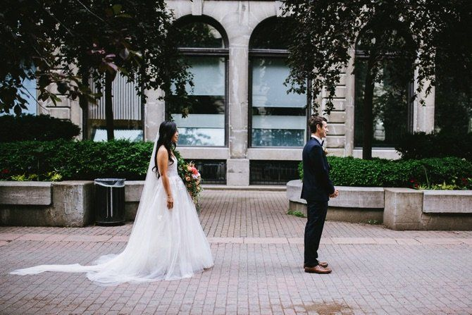 Monique Lhuillier Real Wedding From Veronique Moisan Photography | PreOwned Wedding Dresses