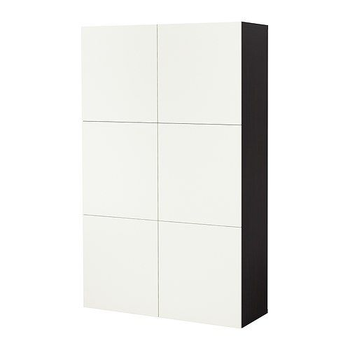 ikea besta great for squirreling things away in a teeny. Black Bedroom Furniture Sets. Home Design Ideas