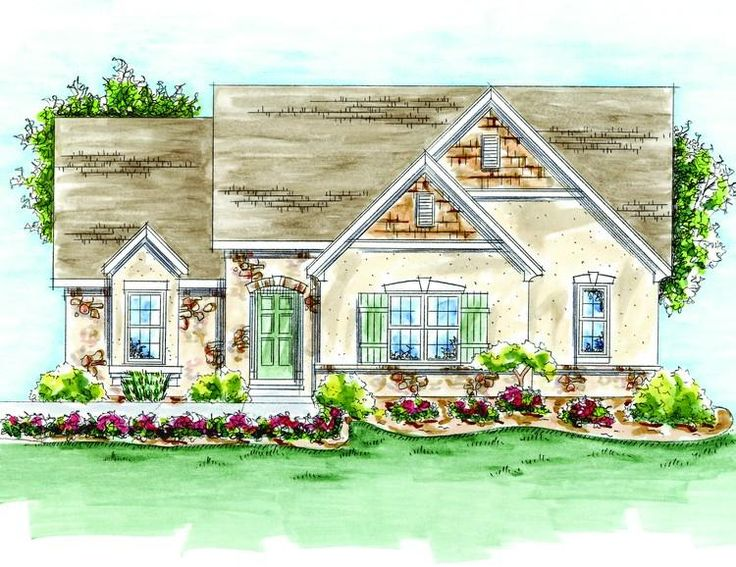 Houseplan 402 01373 1789 2bd greatroom pocket office for French cottage floor plans