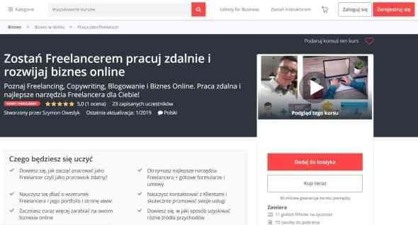 Kurs Online Zostan Freelancerem I Rozwijaj Biznes Online Online Udemy