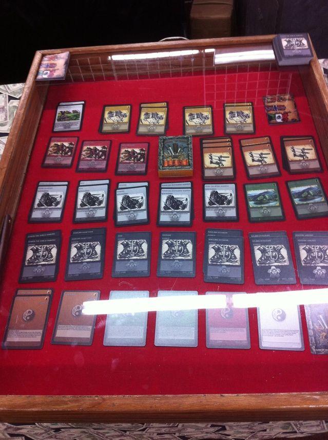 Table setup to display the Samurai Card deck