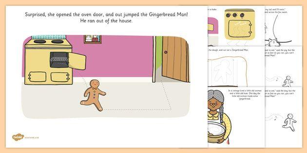 The Gingerbread Man Fine Motor Skills Story - motor skills, story