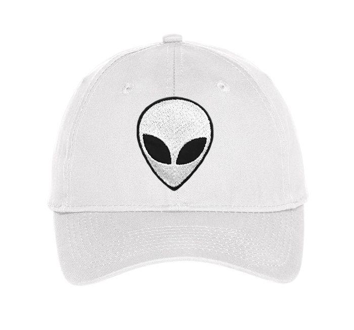 The Alien hat in white from UnfitFashion.com.  More styles available. #alienhat #tumblrhats #tumblr #grunge #grungehat #nasa #nasahat #alienclothing #tumblrclothing #unfitfashion #goth #space #dadcap #baseballcap #edgy #hipster