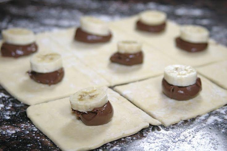 The Italian Dish - Posts - World Nutella Day - Nutella/Banana PastryPurses