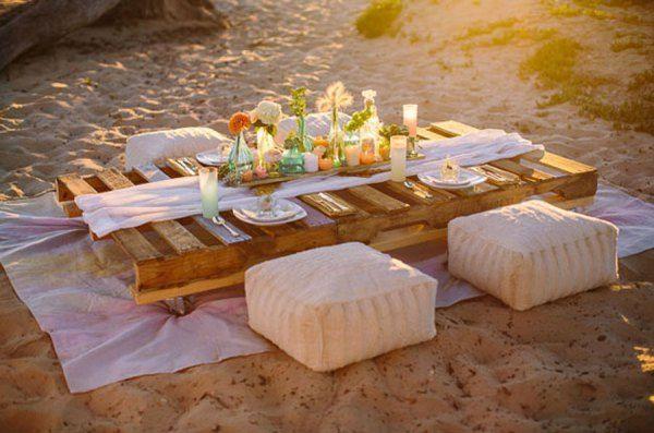 Tu cena romántica en la playa