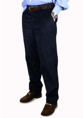 Berle Men's 8 Wale Luxury Cord Trousers - Blue - 38 Average