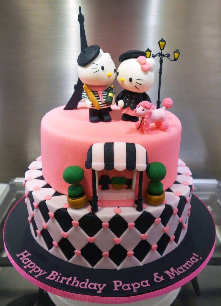 Hello Kitty Paris cake