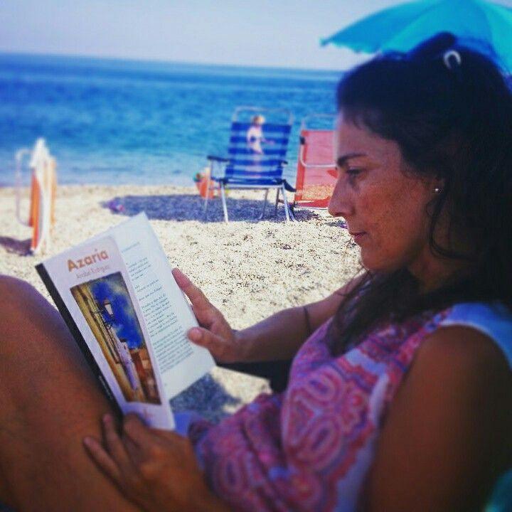 Gracias Nieves por acompañarnos y por llevarte Azaría a la playa.  No puede estar en mejores manos.