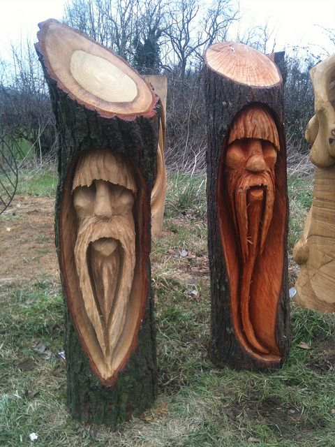 Tree Carvings | tree wizards chainsaw carving