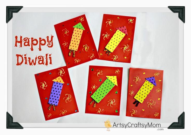 Happy Diwali Foam Cards #Card #Diwali #India