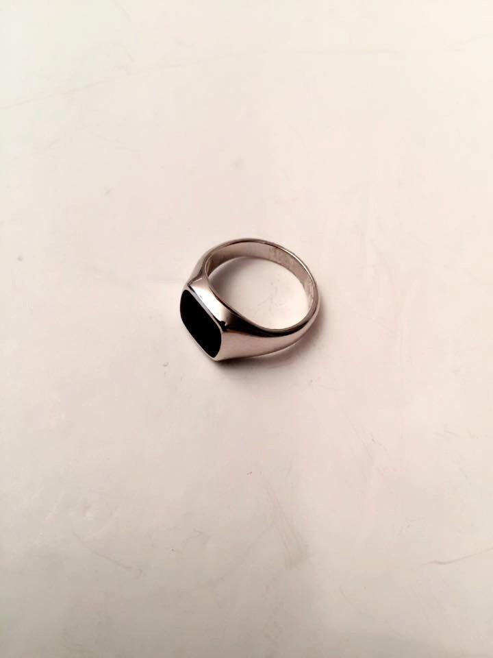 Onyx Ring, Black Onyx Ring, Signet Ring, women ring, men ring, Pinky ring, Silver Signet Ring, Black Ring, Man Pinky Ring, Woman Pinky Ring by Limajewelry on Etsy https://www.etsy.com/transaction/1280634680