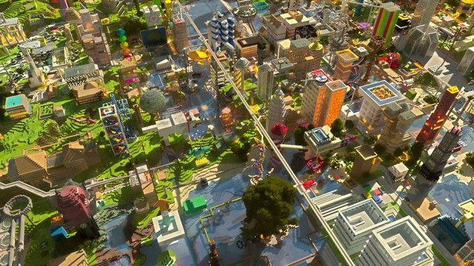 minecraft hd desktop wallpaper city creations