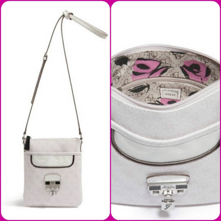 Hewitt Cross-Body Bag by #GUESS $58  Available in 3 colors  So-chic lizard-embossed trim and a lust-worthy padlock charm add fresh appeal to our #classic logo cross-body.Signature 4-G logo-print exterior with lizard-embossed faux-leather trim. Silver-tone hardware. Script logo plaque at front with padlock detail. Top zipper closure. Interior features a zipper pocket. Exterior open pocket. #Floral - print logo lining #women #fashion #bodybag #bag #meinstyleclothing