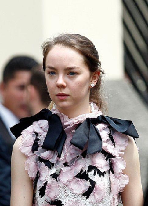 65e6839fe3a7 Princess Alexandra of Hanover walk after the wedding of Prince ...