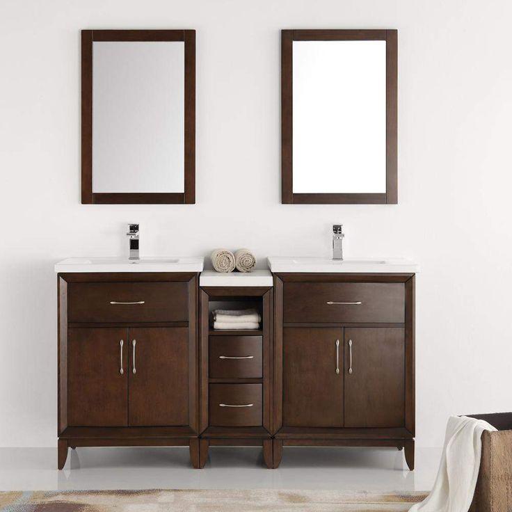 Fresca Cambridge 60 inch Double Sink Vanity with Mirrors FVN21-241224