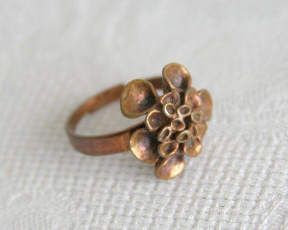 Modernist HANNU IKONEN Reindeer Moss Bronze Ring by GalerieMollari