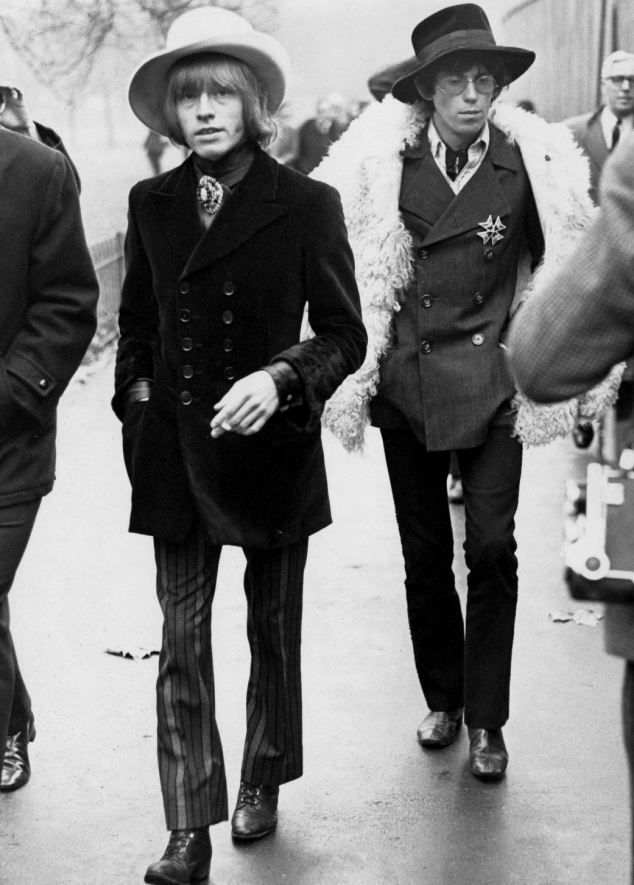 Bandmates: Keith Richards with Brian Jones in 1967, two years before Brian's death