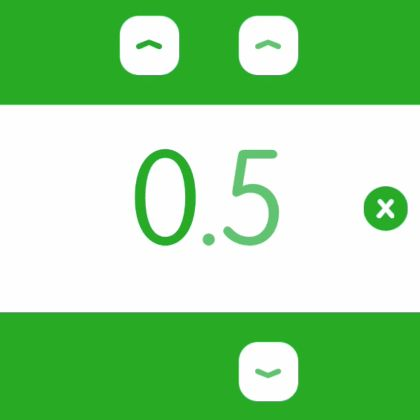 "Scrile is a ""scrum poker"" app. It has a pretty great number picker, which is shown in this animation."