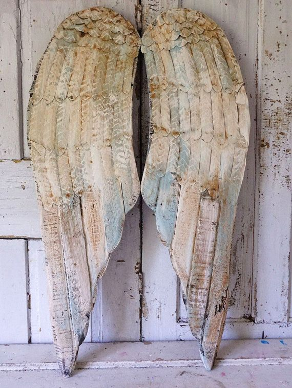 Distressed Angel Wings Wall Decor French Soft By AnitaSperoDesign