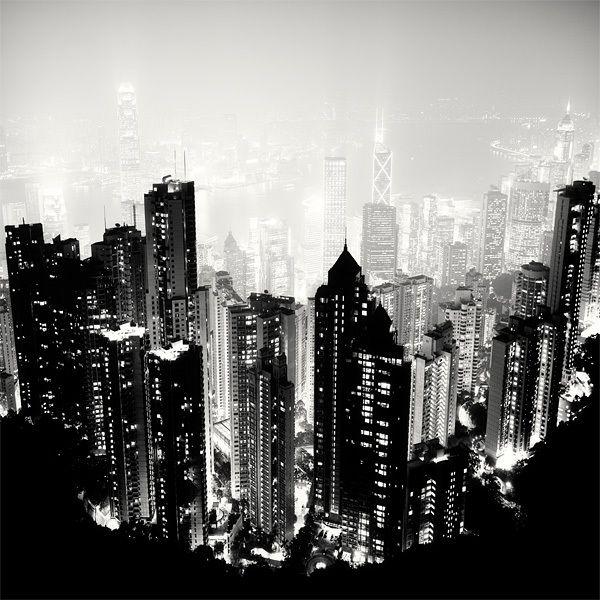 Amazing Hong Kong: Amazing Black & White Nighttime Shot Of Seoul By Martin