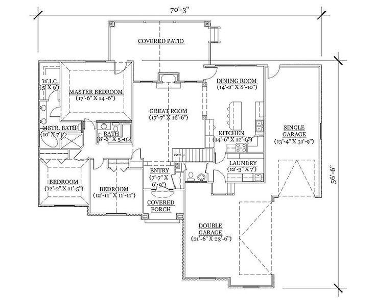 1000 Images About 3 Bedroom Rambler Plans On Pinterest