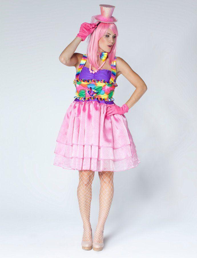 Clown Kleid (pink) für Karneval & Fasching kaufen | Deiters