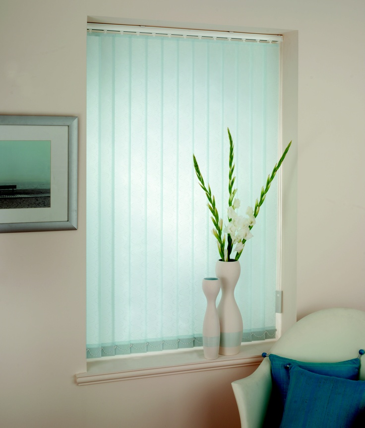 Light Blue Vertical Blind