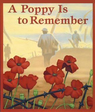 We cherish too, the Poppy red  That grows on fields where valor led,   It seems to signal to the skies    That blood of heroes never dies.
