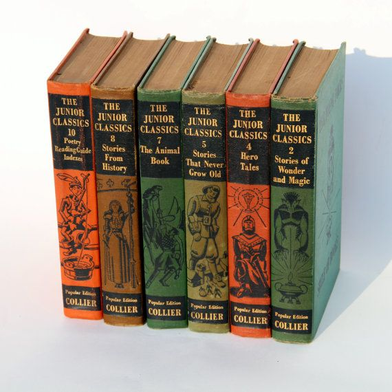 Great set of vintage childrens books; instant collection: The Junior Classics