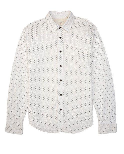 Rag Bone Official Store Yokohama Shirt White Fl Mens