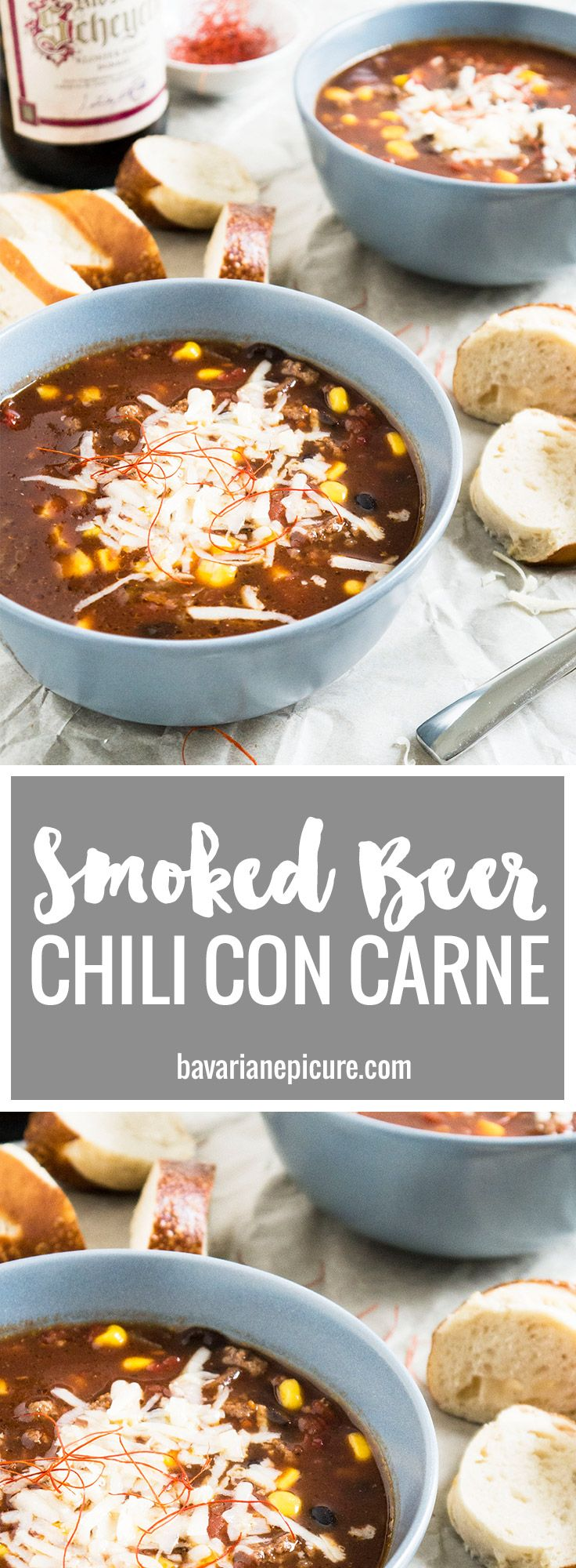 This Smoked Beer Chili con Carne is great to feed a crowd!