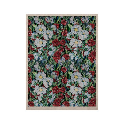 "DLKG Design ""Giardino"" Garden Flowers KESS Naturals Canvas (Frame not 