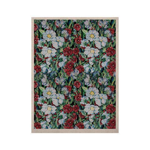 "DLKG Design ""Giardino"" Garden Flowers KESS Naturals Canvas (Frame not | KESS InHouse"