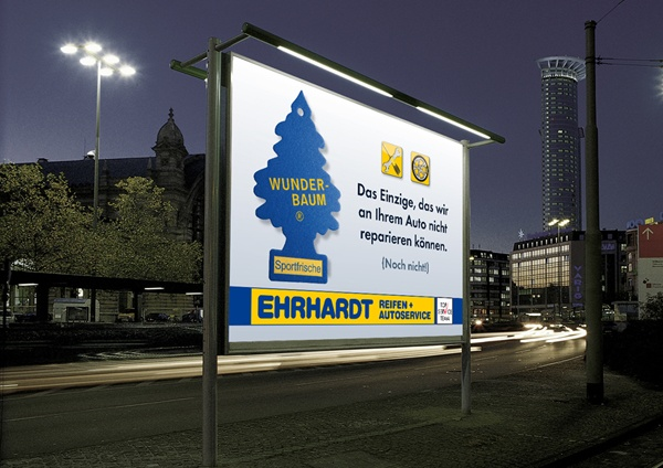 cc: Ehrhardt Reifen Kampagne für Außenwerbung