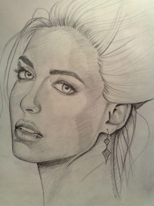 Bar refaeli #Drawing #pencil #hobby