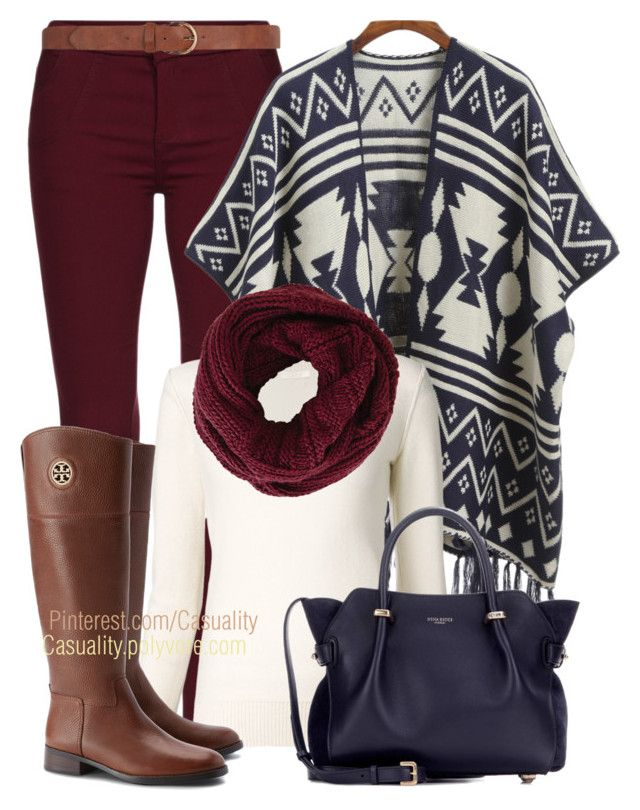 Printed Cardigan & Tory Burch by casuality on Polyvore featuring polyvore fashion style Chloé Tory Burch Nina Ricci BCBGMAXAZRIA Dorothy Perkins country women's clothing women's fashion women female woman misses juniors