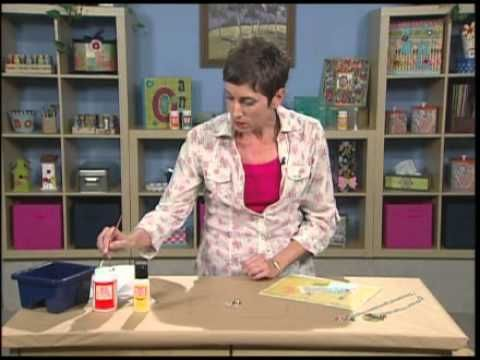 Designer Candie Cooper shows you how to use Mod Podge Dimensional Magic to complete a jewelry pendant project.