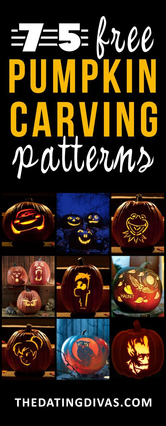 These look like such fun pumpkin carving patterns and I can't wait to use them this year! www.TheDatingDiva...