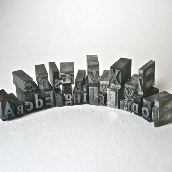 Vintage Metal Printer's Type Alphabet for by ReminiscencePapers, $32.00