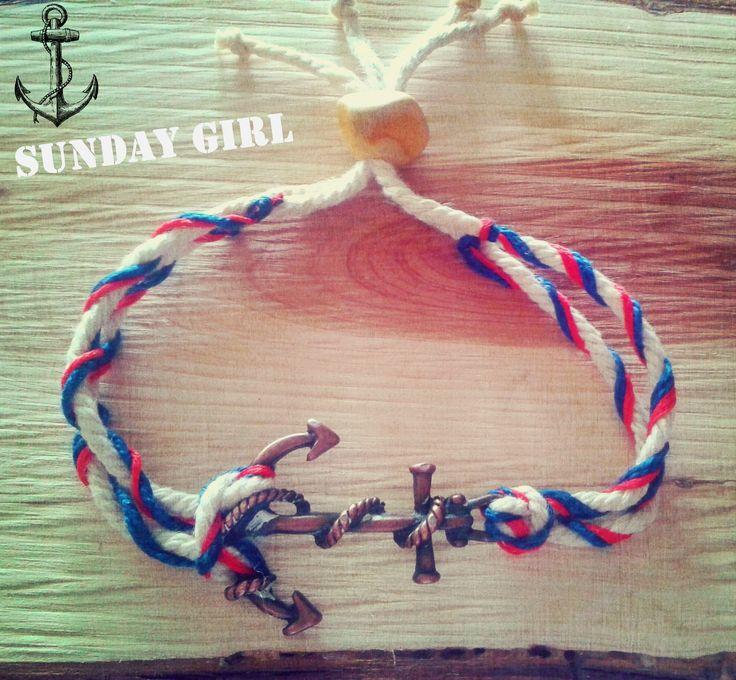 men's handmade anchor bracelet