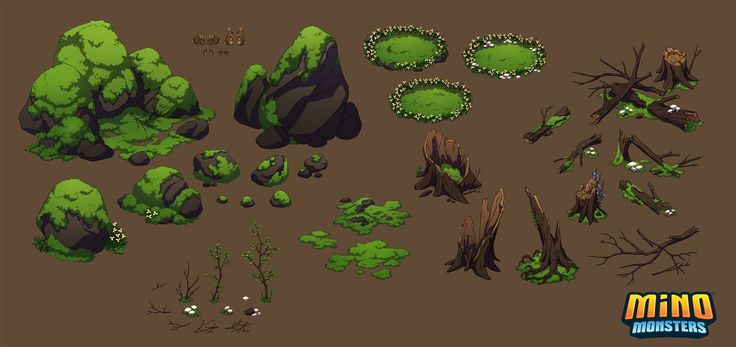 MinoMonsters Forest Assets by hellcorpceo.deviantart.com on @deviantART - love the simplistic look, would work nicely with some smaller games