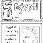 "This ""All About Egypt"" booklet can be used for a very basic country study in lower elementary grades!  Just print out the pages, have kids cut alon..."