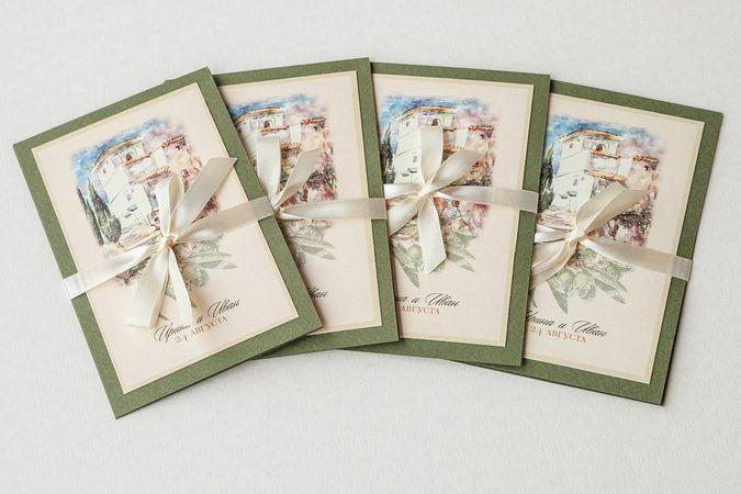 Tender wedding invitations in Mediterranean style