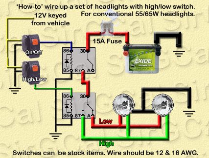 Land Cruiser Headlight Wiring Diagram Kidney Location In Humans Wire/fuse Size & Relay Explanations - Jeepforum.com | Jeep/overlanding Pinterest Jeeps, Cars ...